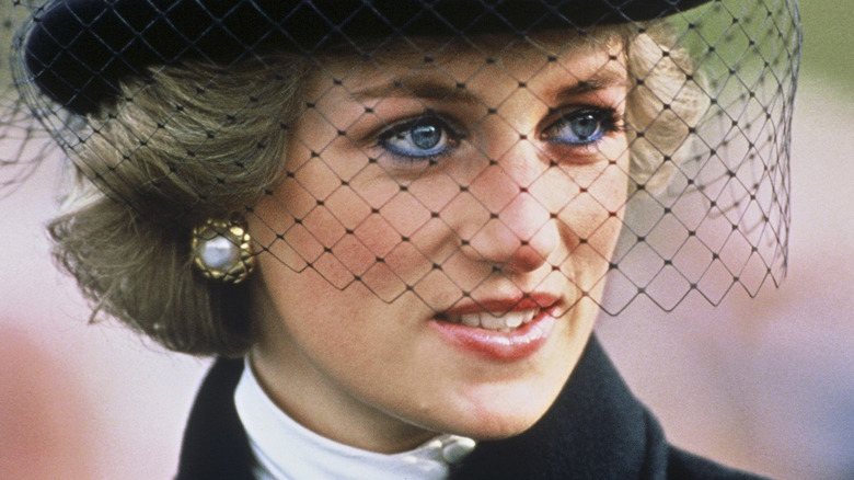 Princess Diana with veil
