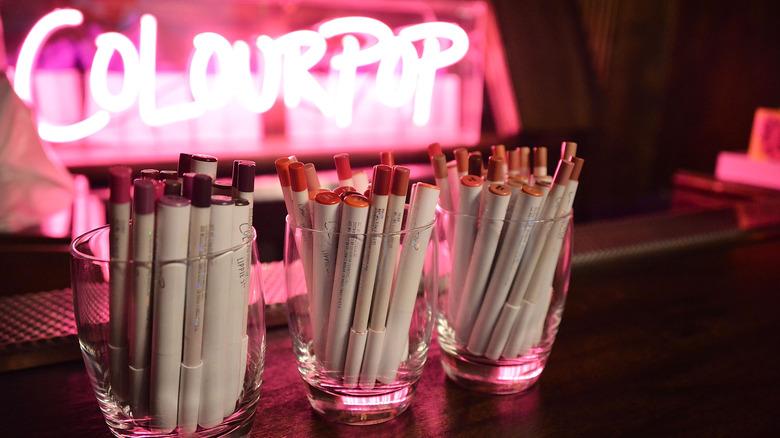 colourpop makeup display