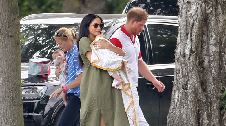 royals Meghan Markle, Prince Harry, and Prince Archie