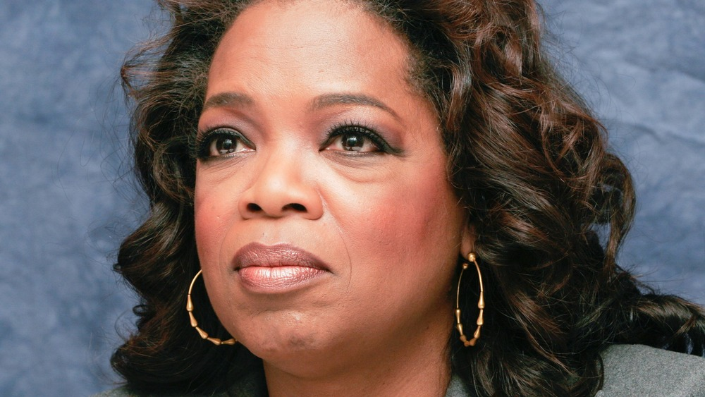 Oprah Winfrey looking sad