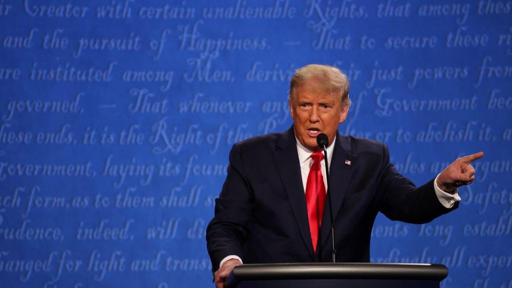 Trump during the debate