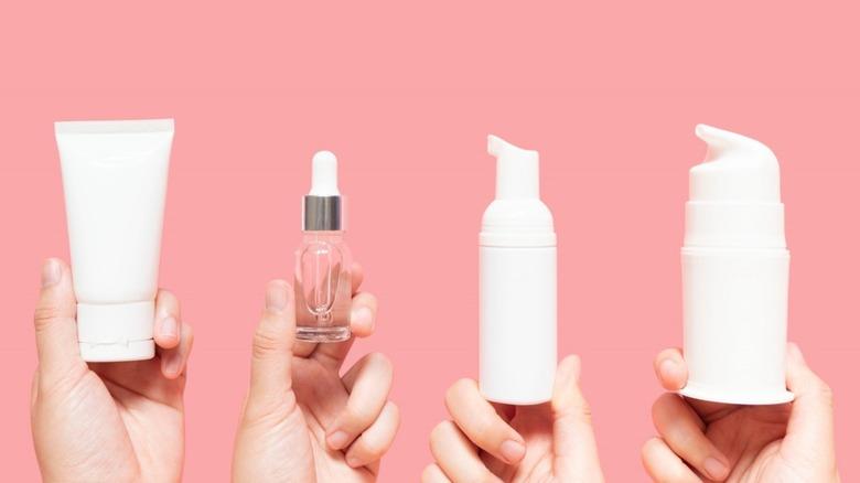 skincare items serum lotion