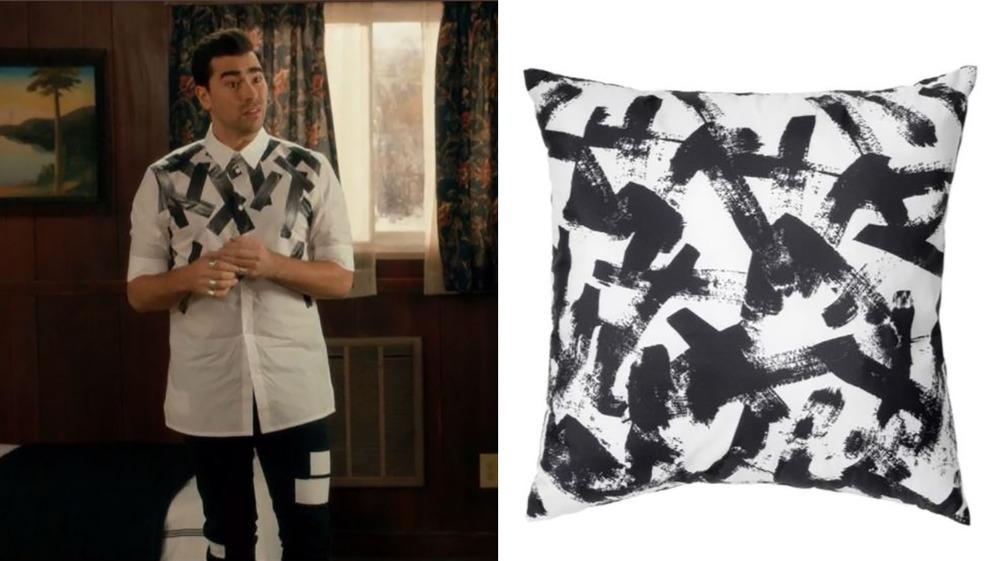 David Rose and IKEA pillow