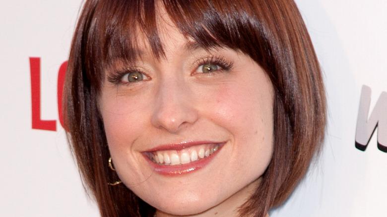 Allison Mack smiling