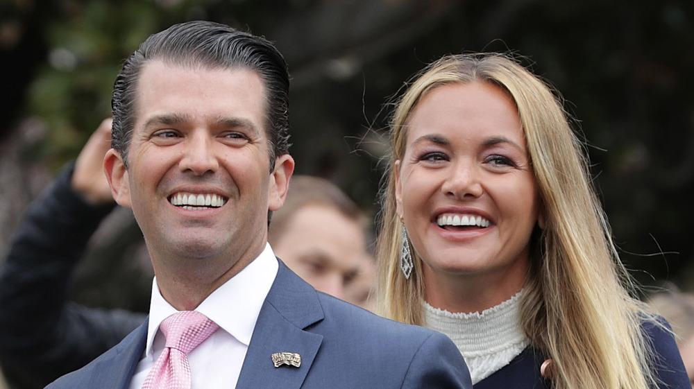 Vanessa Trump and Donald Trump Jr. smiling