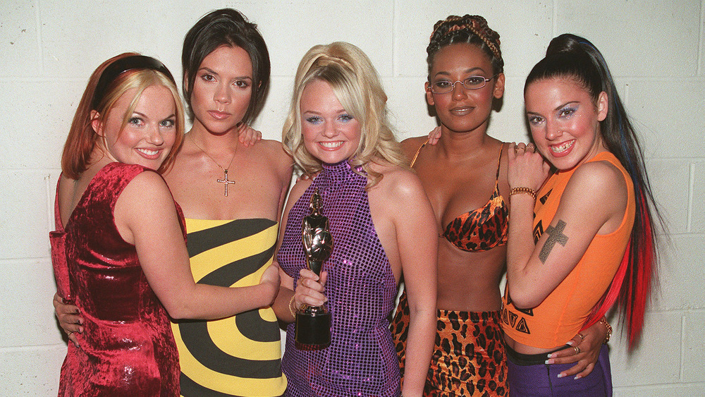 The Spice Girls pose together