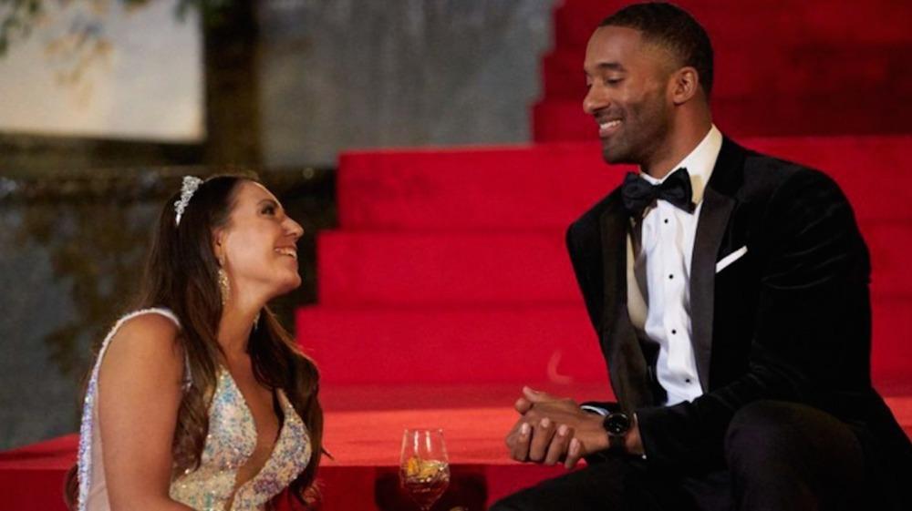 Victoria Larson and Matt James in The Bachelor