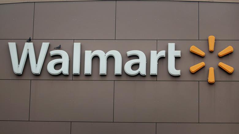 Walmart signage outside store