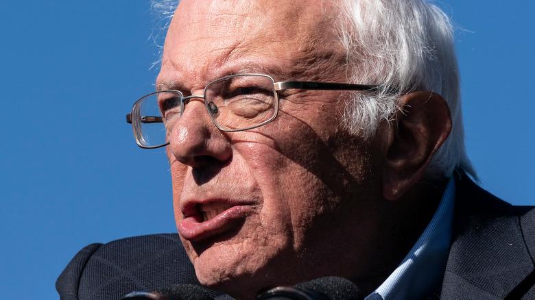 Senator Bernie Sanders speaking