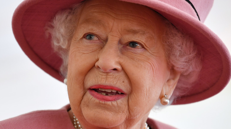 Queen Elizabeth looks surprised