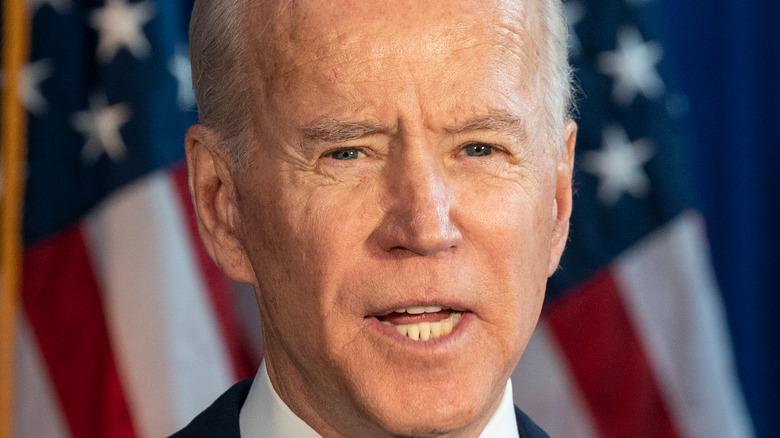 President Joe Biden addressing the nation
