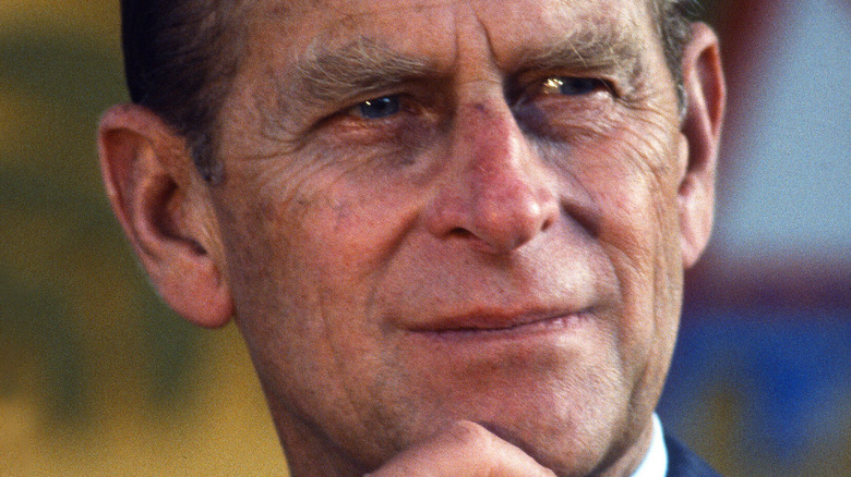 Prince Philip at an event in 1990