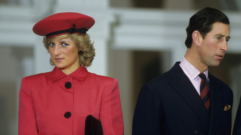 Princess Diana and Prince Charles standing