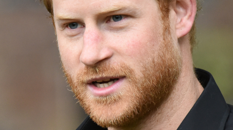 close up of Prince Harry