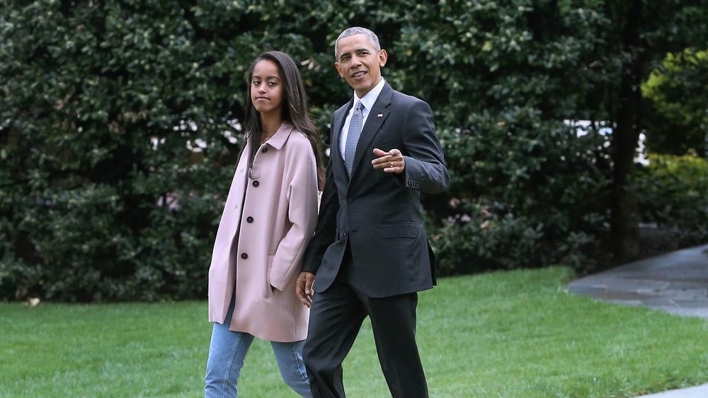 Barack Obama and Malia Obama