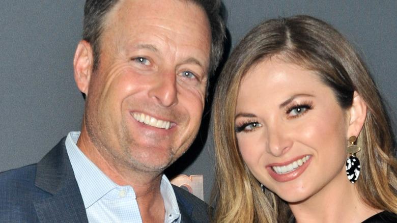 Chris Harrison and Lauren Zima smile together