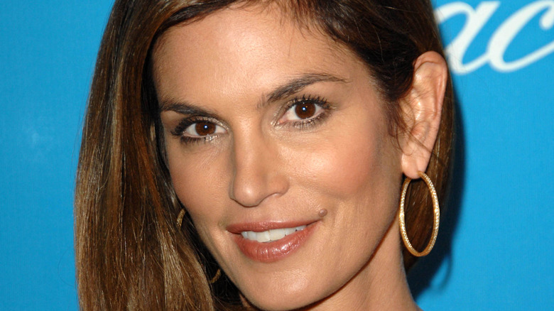 Cindy Crawford poses on the red carpet