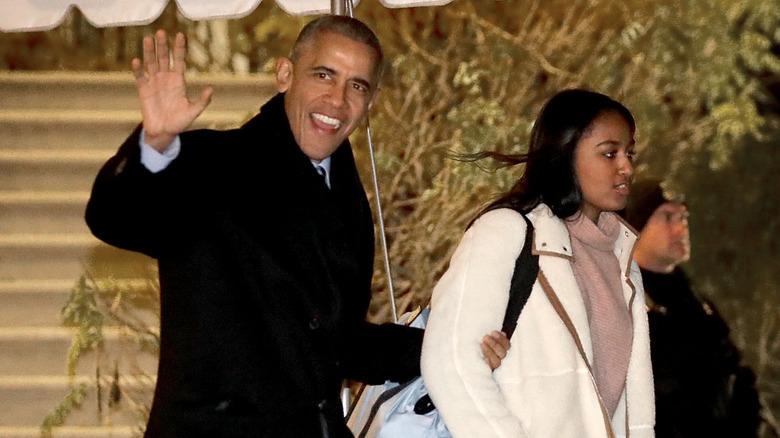 Barack Obama and Sasha Obama