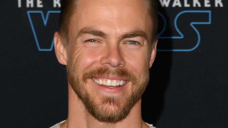 Derek Hough smiling with beard
