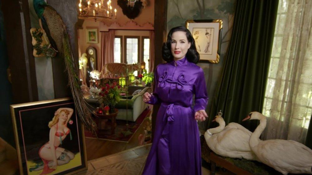 Dita Von Teese at home