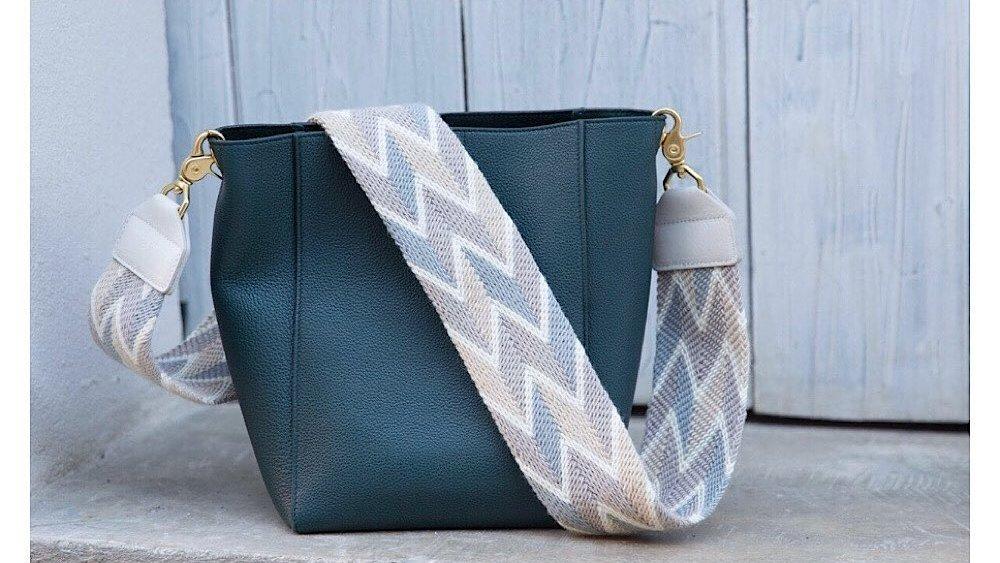 salt strap on a purse