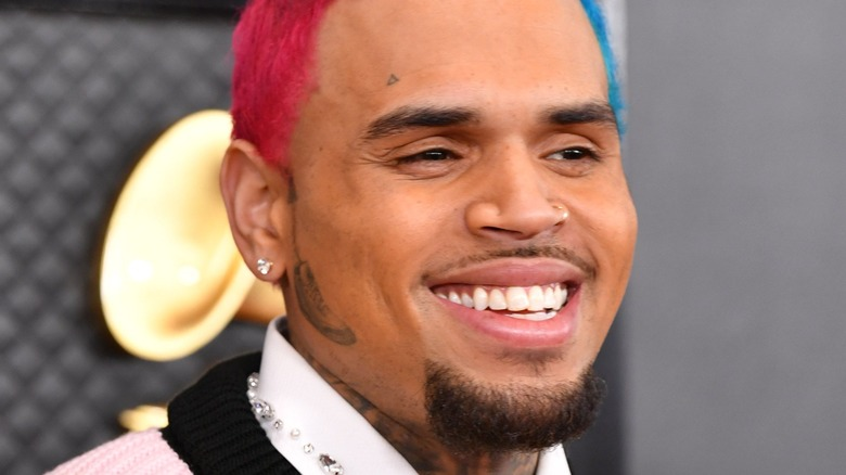 Chris Brown at event