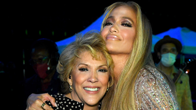 Jennifer Lopez and her mother Guadalupe Rodriguez