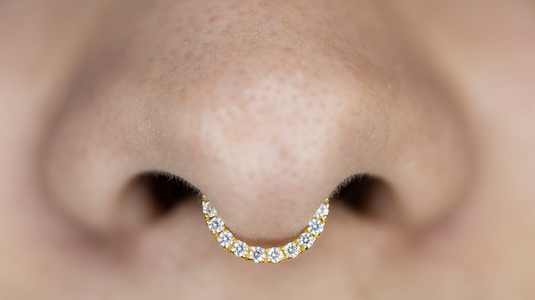woman with nose ring