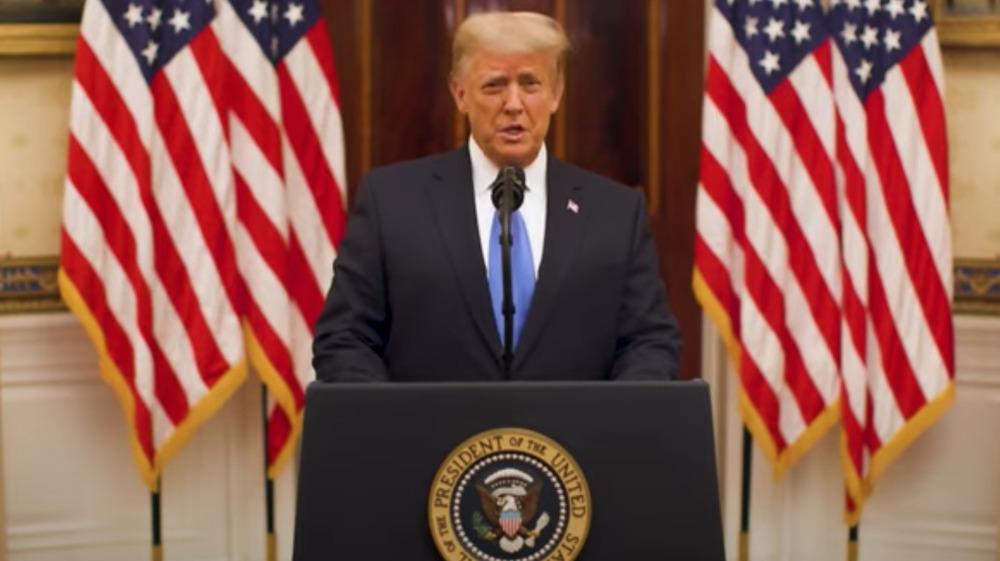 Donald Trump delivers farewell address