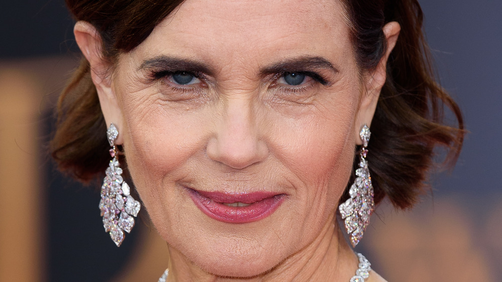 Elizabeth McGovern with earrings