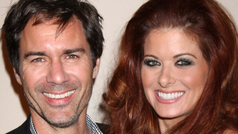 Debra Messing and Eric McCormack close-up