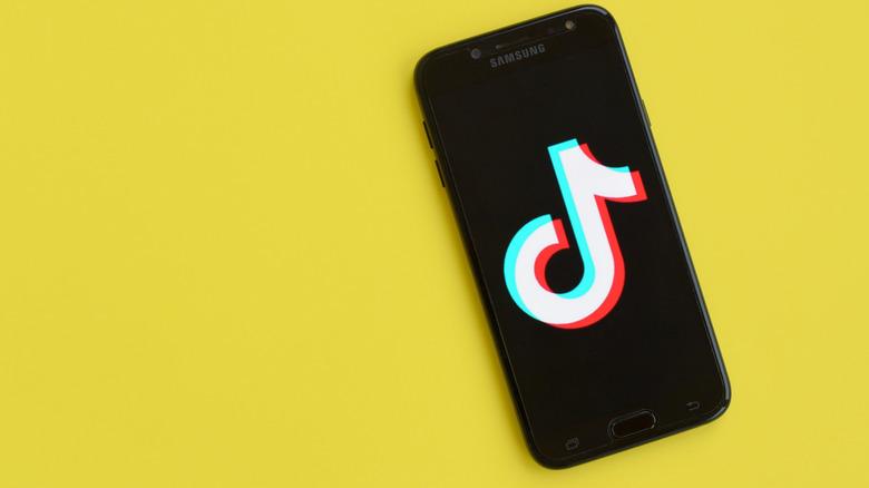 Phone showing the app TikTok