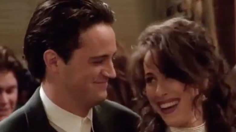 Janice and Chandler smiling