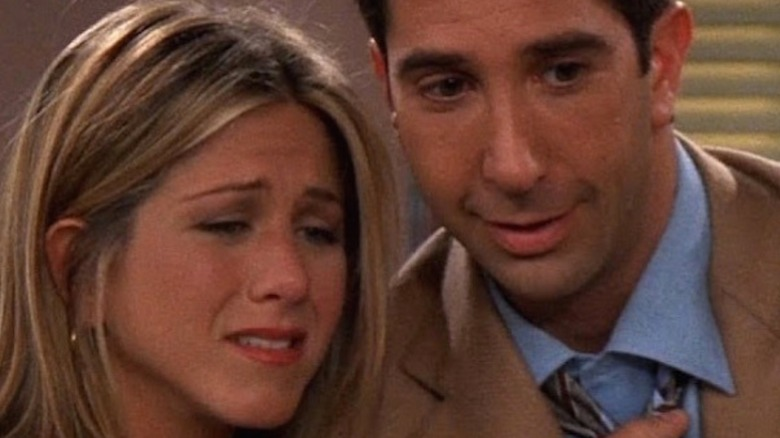 """Ross and Rachel up close in """"Friends"""""""