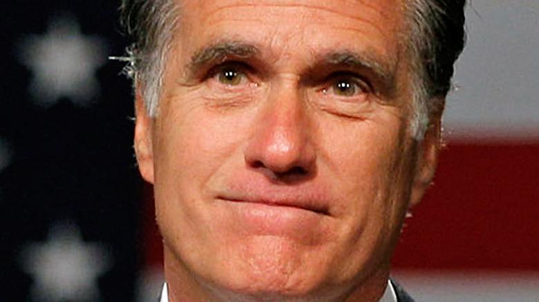 Mitt Romney smiling close-up