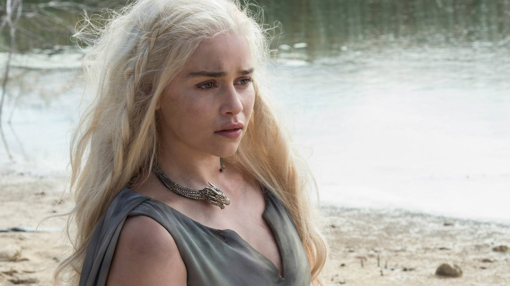 Emilia Clarke posing from GOT