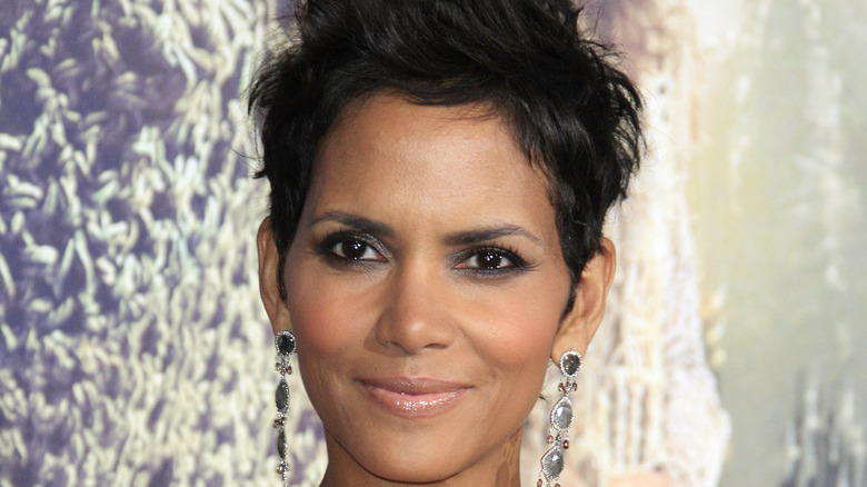 Halle Berry poses on the red carpet