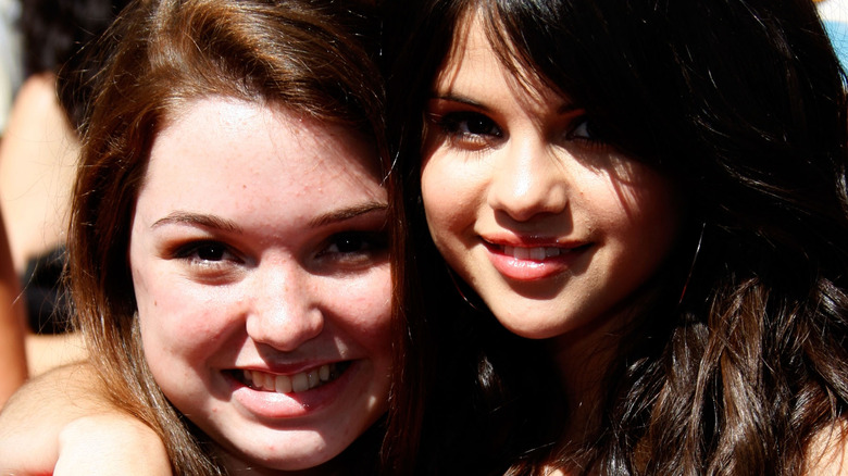 Jennifer Stone and her Wizards of Waverly Place co-star Selena Gomez in 2008
