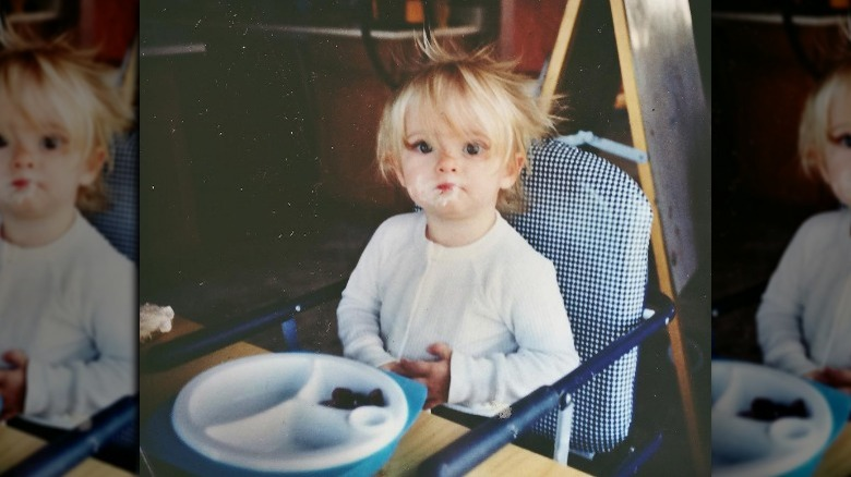 Willow Shields as a baby