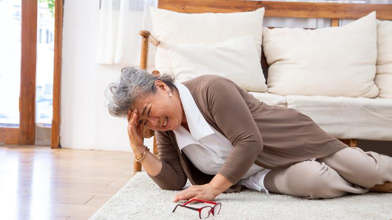 Woman suffering from a stroke
