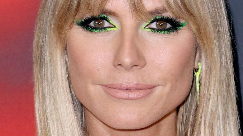 Heidi Klum wearing makeup