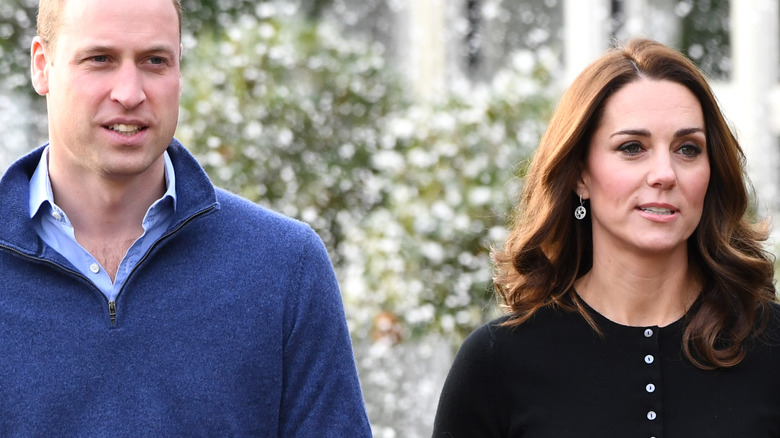 Prince William and Kate Middleton walk side-by-side