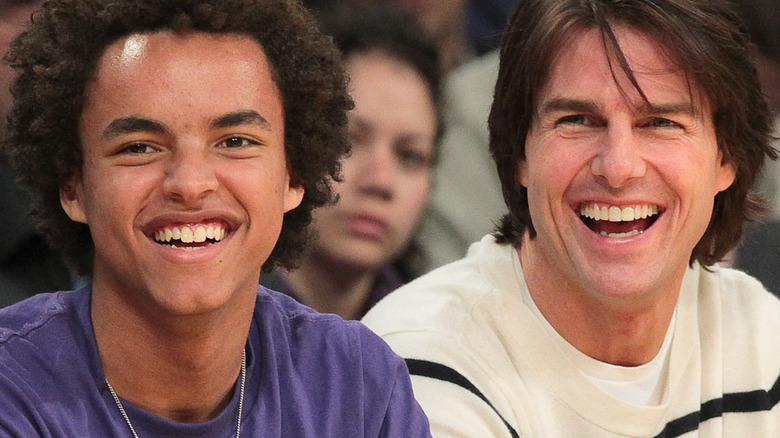 Connor and Tom Cruise at game
