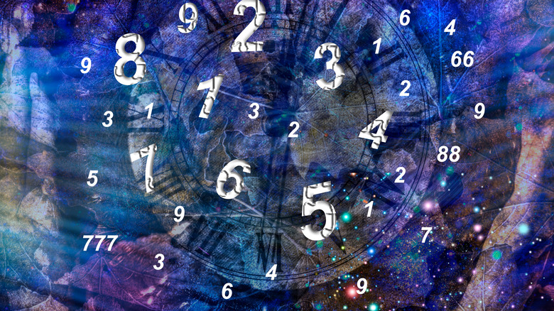 numerology numbers floating