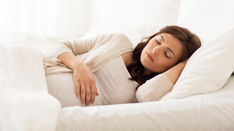 Pregnant woman dreaming