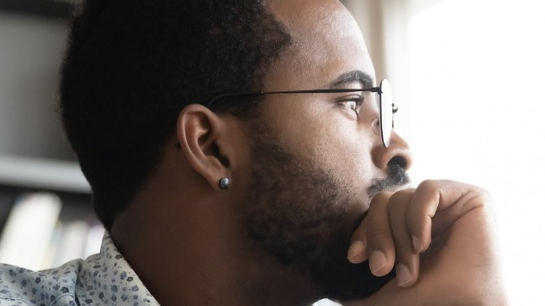 Man deep thought