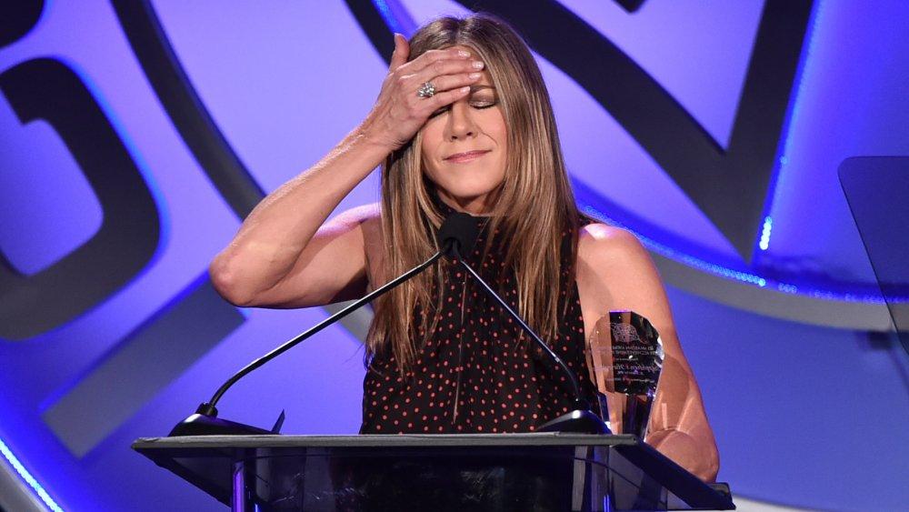Jennifer Aniston face-palm