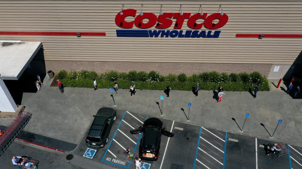 Arial shot of Costco