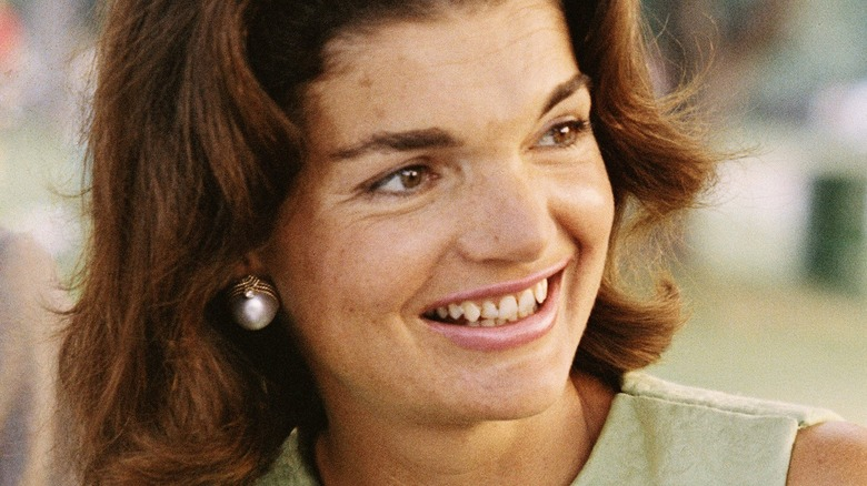 Jackie Kennedy at the airport in the 1960s