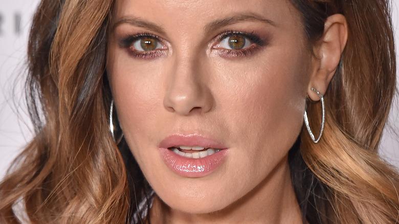 Kate Beckinsale wearing makeup